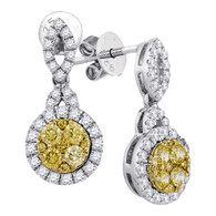 0.90CTW NATURAL YELLOW DIAMOND FASHION EARRINGS