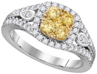 1.16CTW NATURAL YELLOW DIAMOND BRIDAL RING