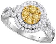 1.00CTW NATURAL YELLOW DIAMOND FASHION BRIDAL RING