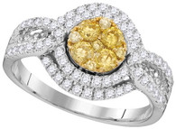 1.10CTW NATURAL YELLOW DIAMOND BRIDAL RING