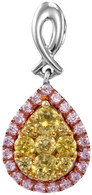 0.58CTW NATURAL YELLOW DIAMOND FASHION PENDANT