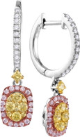 0.90CTW NATURAL YELLOW DIAMOND FASHION EARRING