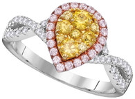 0.86CTW NATURAL YELLOW DIAMOND BRIDAL RING