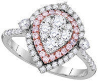 1.08CTW PINK DIAMOND FASHION RING