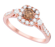 0.77CTW COGNAC DIAMOND FASHION RING