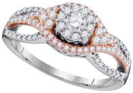 0.55CTW DIAMOND CLUSTER RING