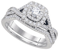 0.75CTW DIAMOND 0.20CT-CRD BRIDAL SET