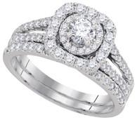 1.50CTW DIAMOND 0.50CT-CRD BRIDAL SET
