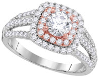 1.27CTW DIAMOND 0.62CT-CRD BRIDAL RING
