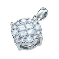 0.50CTW DIAMOND SOLIEL PENDANT