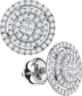 0.51CTW DIAMOND SOLIEL EARRINGS