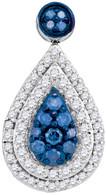 0.53CTW BLUE DIAMOND FASHION PENDANT