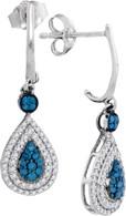 0.52CTW BLUE DIAMOND FASHION EARRINGS