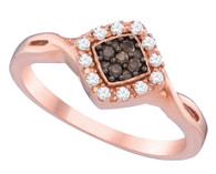 0.18CTW COGNAC DIAMOND FASHION RING