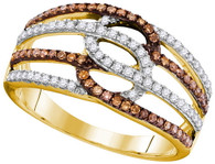 0.45CTW COGNAC DIAMOND FASHION RING