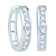 0.50CTW ROUND DIAMOND LADIES FASHION HOOPS EARRINGS