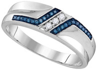 0.20CTW BLUE DIAMOND FASHION RING