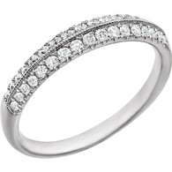 14kt White 1/3 CTW Diamond Band
