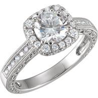 1/2 CTW Diamond Semi-mount Engagement Ring