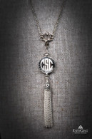 Tassel Monogram Necklace