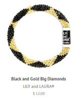Black and Gold Big Diamonds
