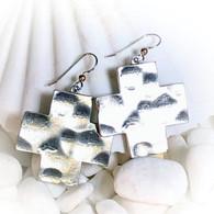 Forged Cross Earrings