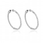 Sterling and CZ Hoops