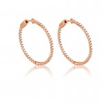 Rose Gold Plated and CZ Hoops