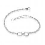 Silver Infinity Bracelet- CZ