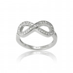 Silver Infinity Ring- CZ