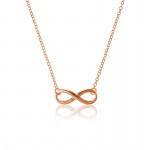 Rose Plated Infinity Necklace- Plain