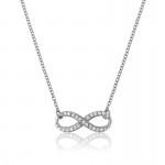 Silver Infinity Necklace- CZ