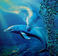 Dancing Dolphin Limited Edition Lithograph