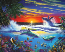 "Tropical Splendor Limited Edition Lithograph 27"" x 37"""