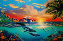Humpbacks in Paradise Limited Edition Lithograph