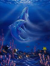 "Dolphin Love Fine Art Print 9"" x 12"""