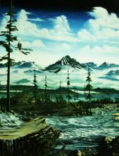 "White Water Morning Fine Art Print Hand Signed 9"" x 12"""