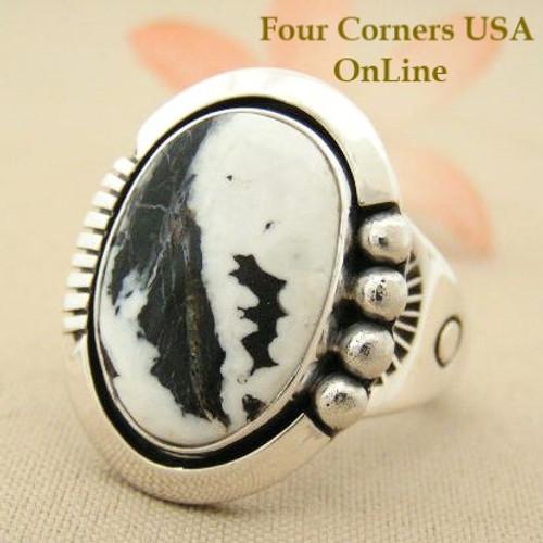 Size 13 Men S White Buffalo Turquoise Ring Native American