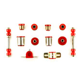 1964-1968 Pontiac GTO LeMans Tempest Red Polyurethane New Front End Suspension Bushing Set with Round Control Arm Bushings