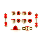 1975-1982 Chevrolet Corvette Red Polyurethane New Front End Suspension Bushing Set