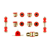 1963-1967 Chevrolet Corvette Red Polyurethane New Front End Suspension Bushing Set