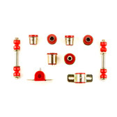 1962-1967 Chevrolet Chevy II Nova Red Polyurethane New Front End Suspension Bushing Set