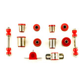 1975-1979 Chevrolet Chevy II Nova Red Polyurethane New Front End Suspension Bushing Set