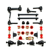 1975-1982 Chevrolet Corvette Red Polyurethane Front End Suspension Master Rebuild Kit