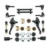 1964-1969 Plymouth Barracuda with Drum Brakes Black Polyurethane New Front End Suspension Rebuild Kit
