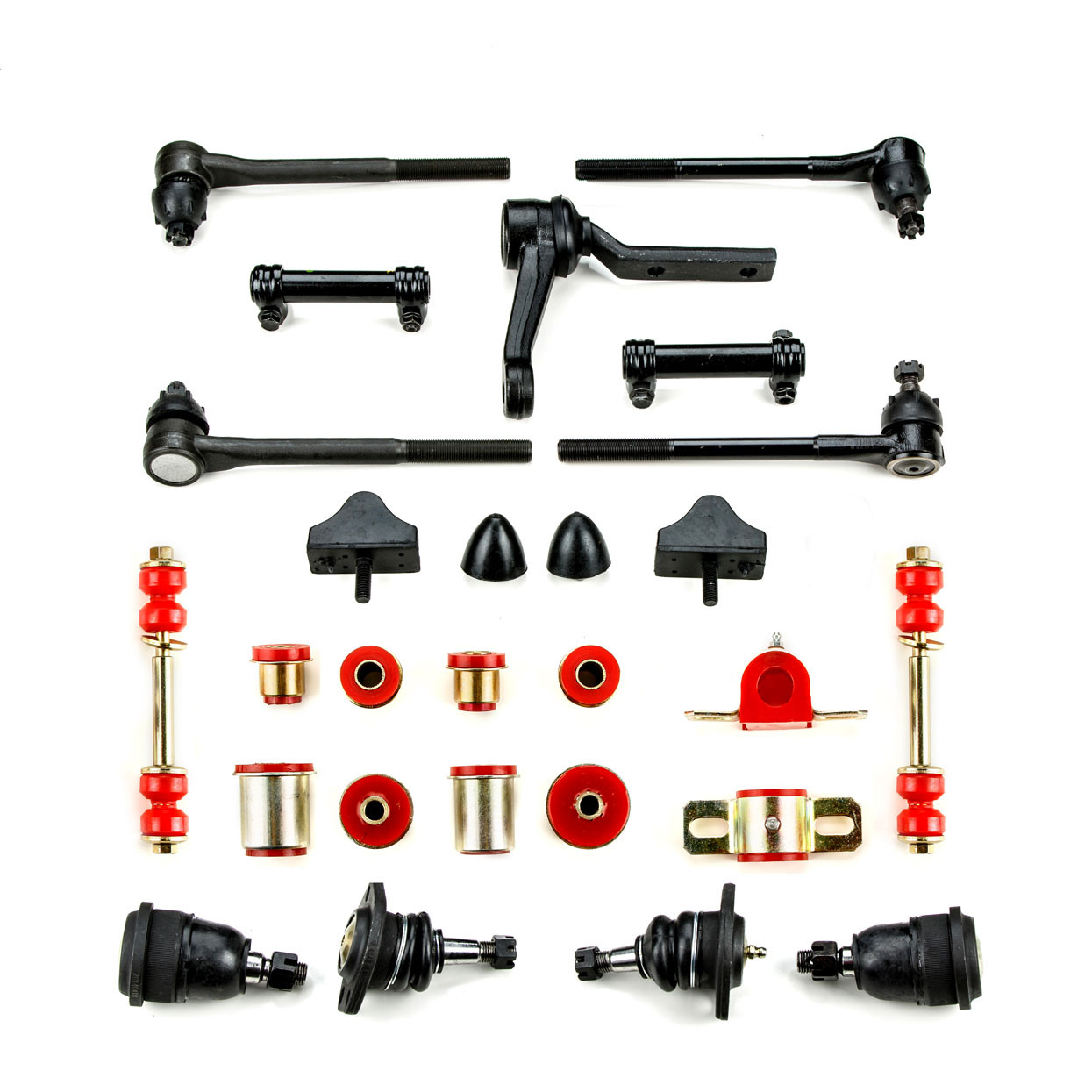 Andersen Restorations Black Polyurethane Front End Suspension Master Rebuild Kit with Oval Lower Control Arm Bushings Compatible with Pontiac GTO LeMans Tempest