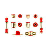 1970-1974 Chevrolet Chevy II Nova Red Polyurethane New Front End Suspension Bushing Set