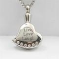"""Live Love Laugh"" Heart"