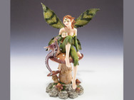 Fairy with mushroom and dragon