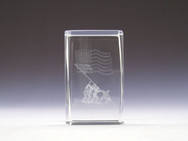 Iwo Jima memorial laser glass